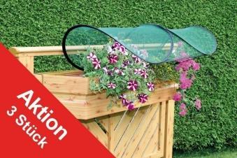 Balkonblumenschutz Pflanzenschutz 3er Set Bild 1