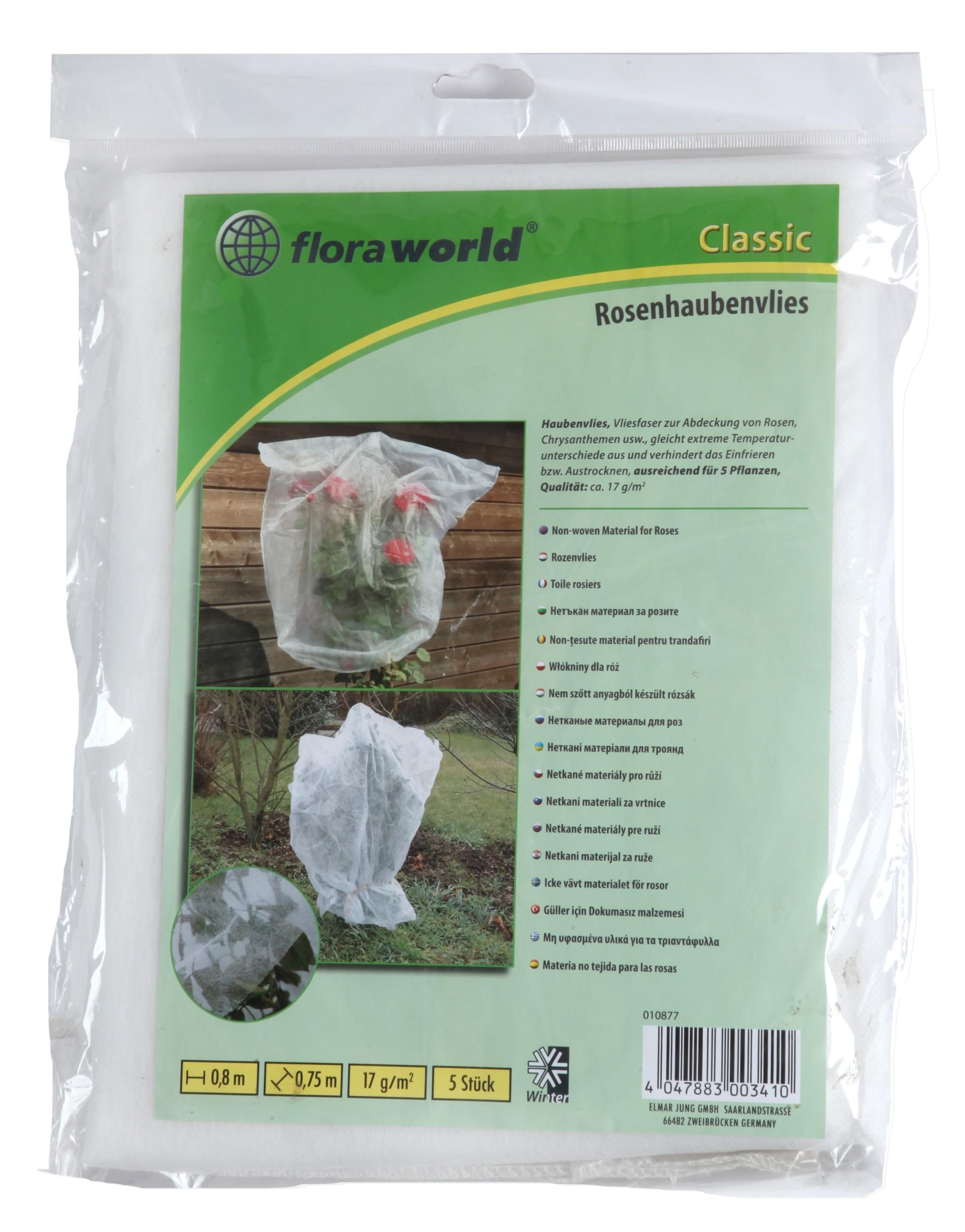 Rosenhaubenvlies / Haubenvlies classic floraworld 80x75cm weiß 5 Stück Bild 1