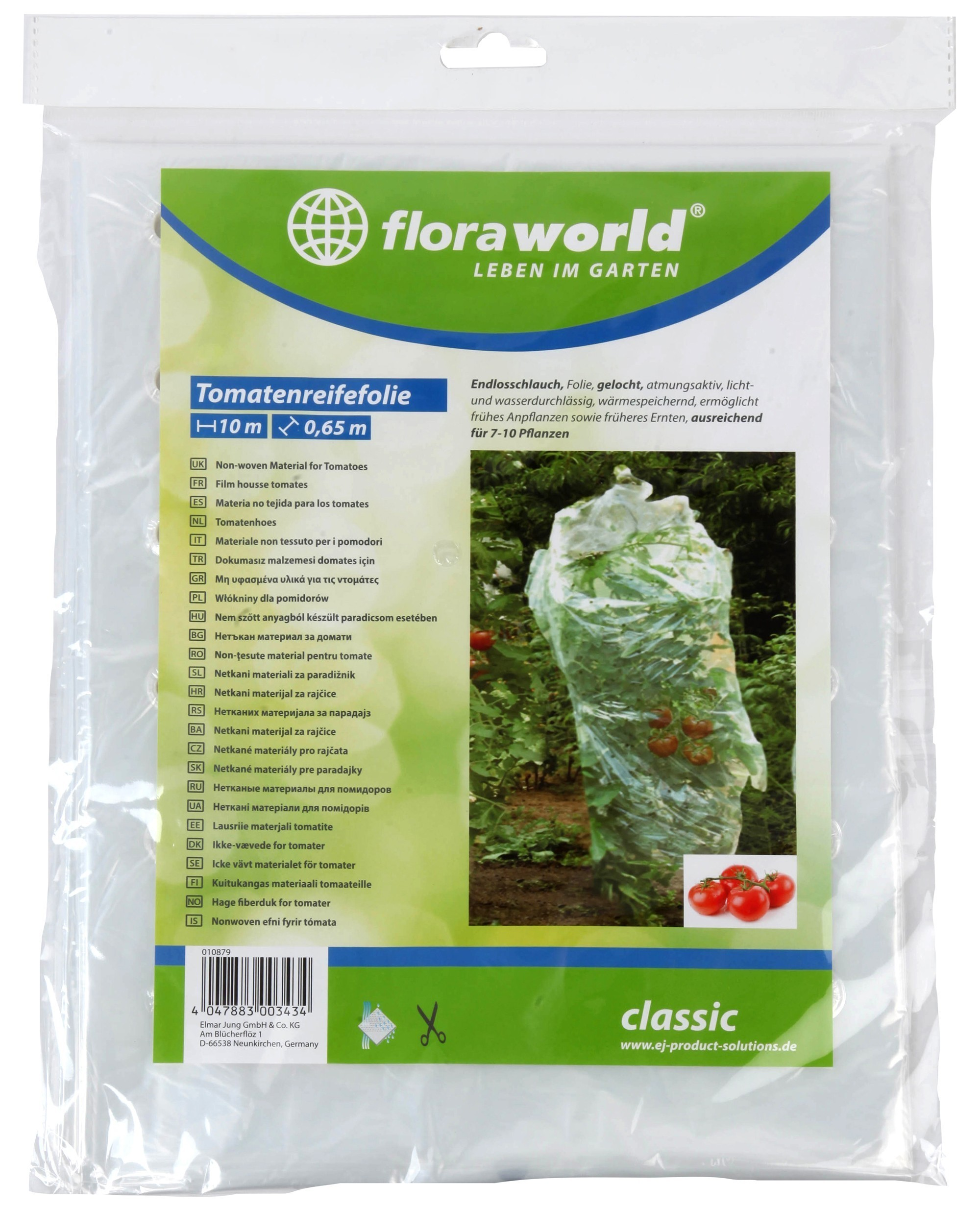 Tomatenreifefolie / Reifefolie classic florworld 10x0,65m klar Bild 1