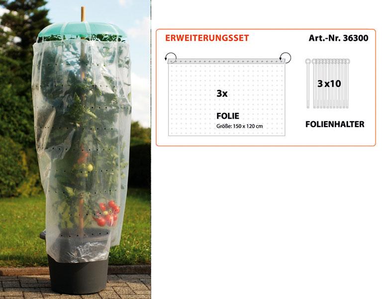 3 Schläuche Tomatenhut Basis-Set 3 Hüte Tomatenschutz