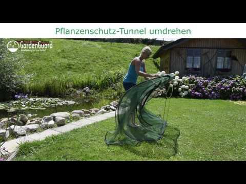 Universalschutznetz Pflanzenschutz Tunnel modular grün Video Screenshot 1929