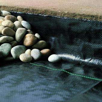 Unkrautfolie / Unkrautblocker PP Noor 1x100m 105g/m² schwarz Bild 2