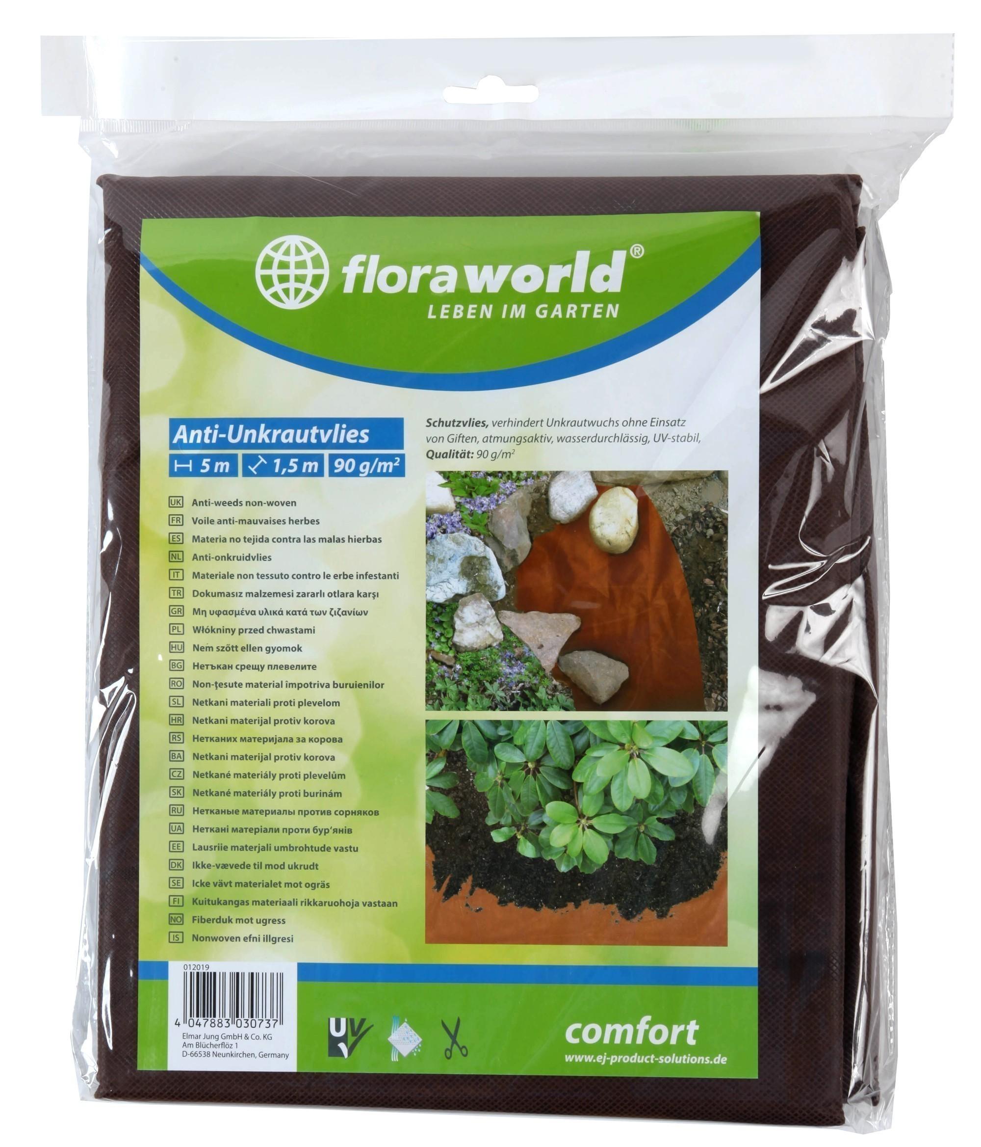Unkrautvlies / Gartenvlies comfort floraworld 5x1,5m Bild 1