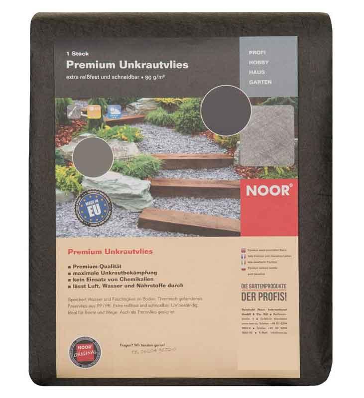 Unkrautvlies / Trennvlies Premium Noor dunkelgrau 0,5x25m Bild 1