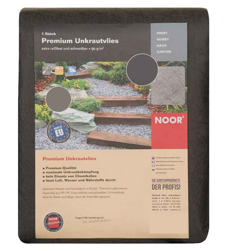 Unkrautvlies / Trennvlies Premium Noor dunkelgrau 1x15m Bild 1