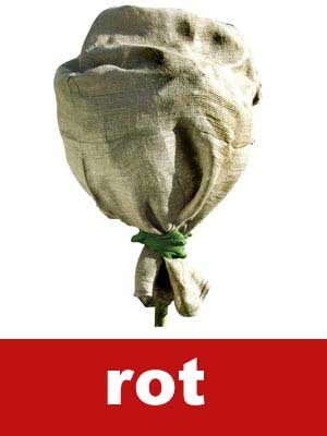 Winterschutz für Pflanzen / Jutesack rot 60x110cm Bild 1