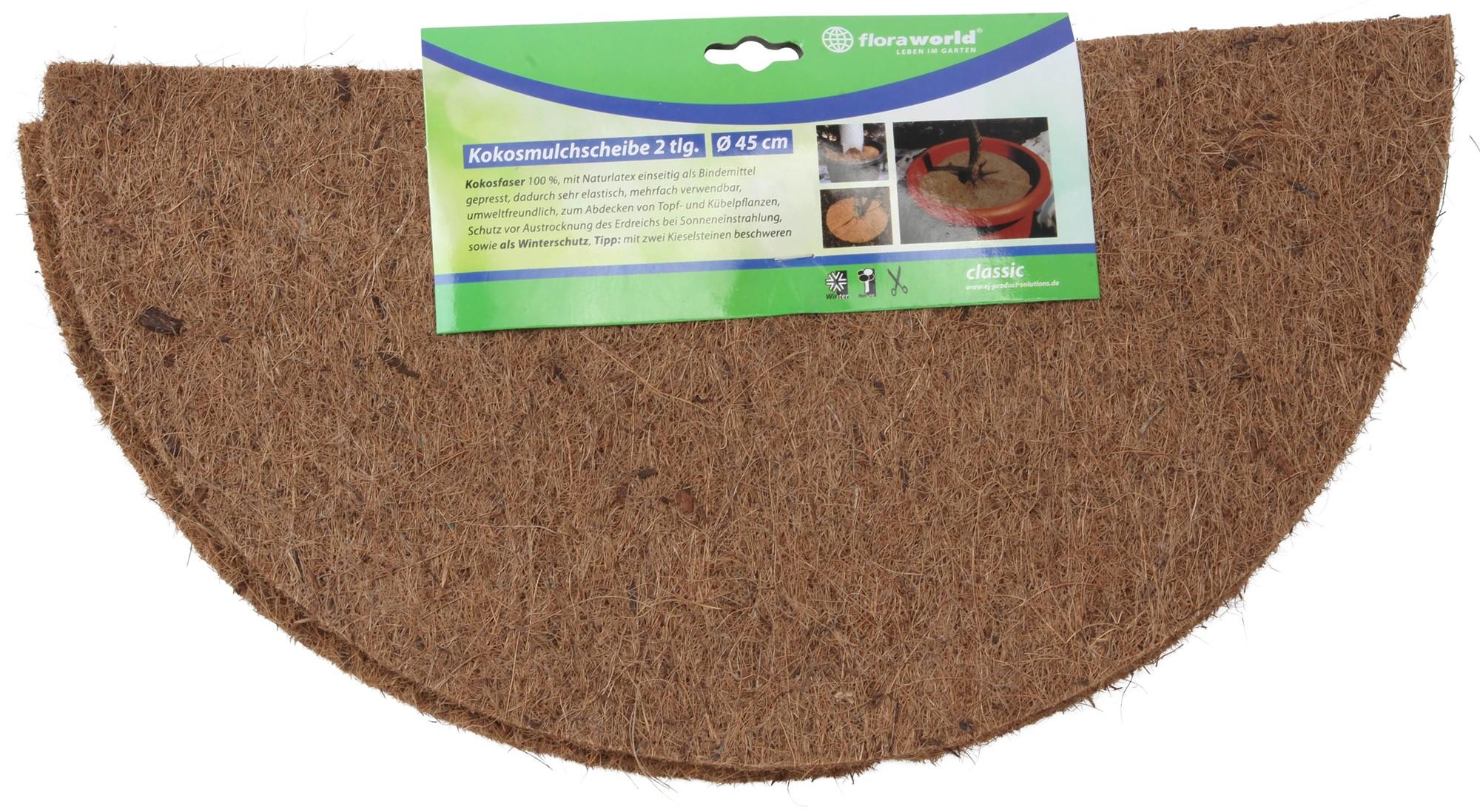 mulchscheibe cocodisc kokos natur 45cm bei. Black Bedroom Furniture Sets. Home Design Ideas