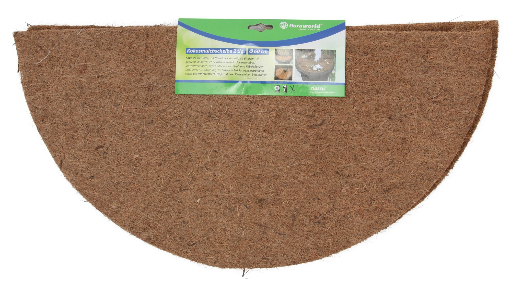 mulchscheibe cocodisc kokos natur 60cm bei. Black Bedroom Furniture Sets. Home Design Ideas