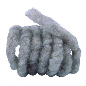Wollkordel aus Schafwolle Noor 3m Ø1cm grau / braun