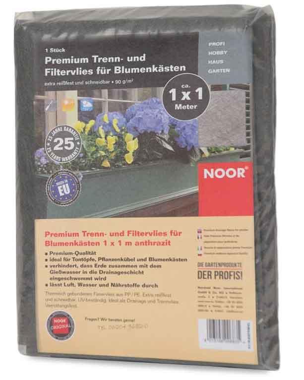 Blumenkastenvlies Premium Noor grau 1x1m Bild 1