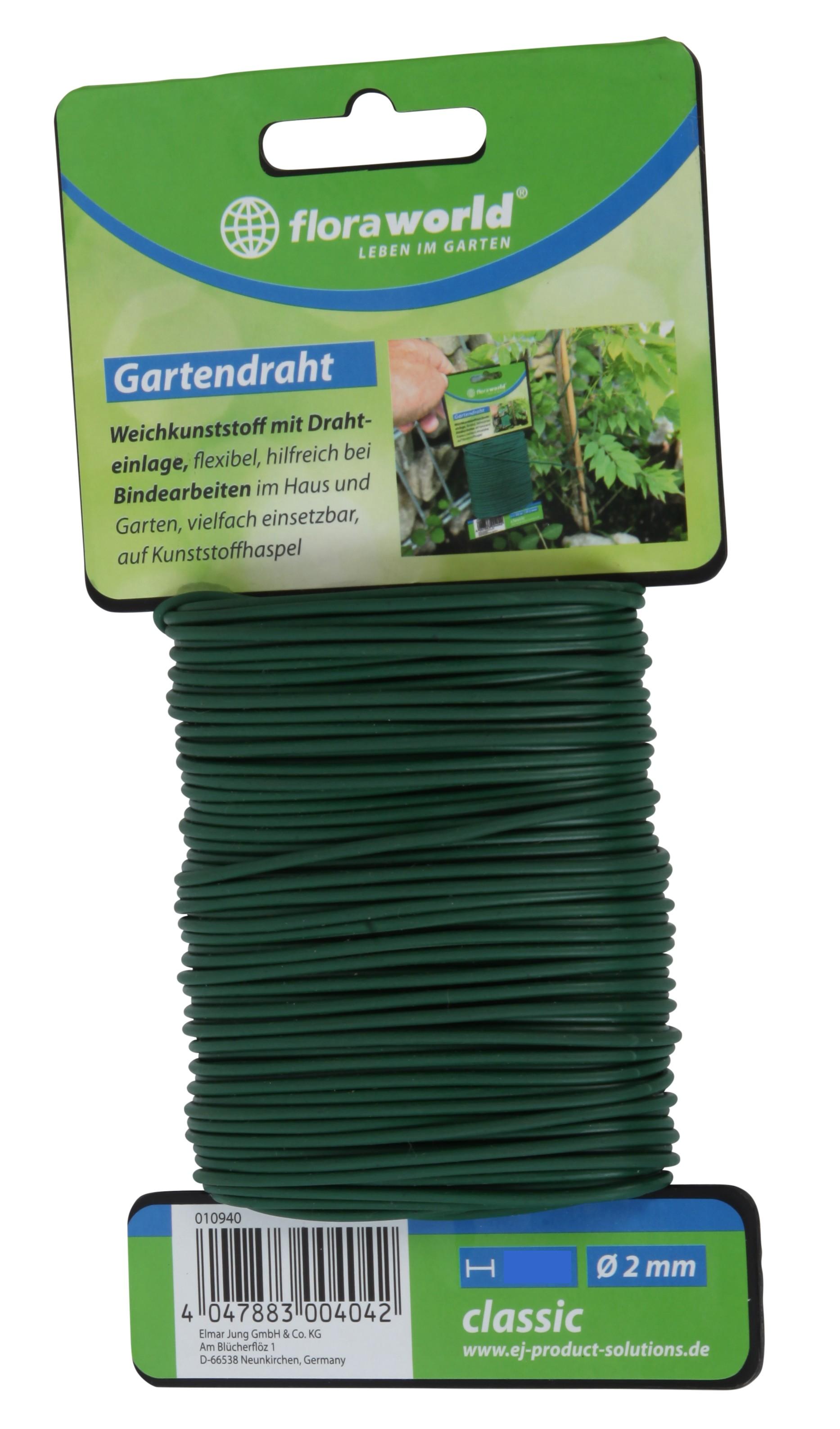 Gartendraht Weichkunststoff classic floraworld Ø 2mm Länge 30m Bild 1