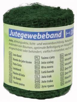 Jute Gewebeband / Dekoband classic floraworld 3x0,6m dunkelgrün Bild 1