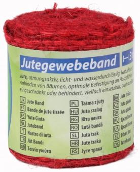 Jute Gewebeband / Dekoband classic floraworld 3x0,6m rot Bild 1