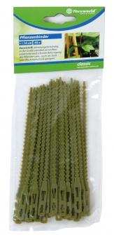Pflanzenbinder Kunststoff classic floraworld 40 Stück grün Bild 1