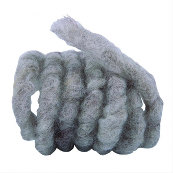 Wollkordel aus Schafwolle Noor 3m Ø1cm grau / braun Bild 1