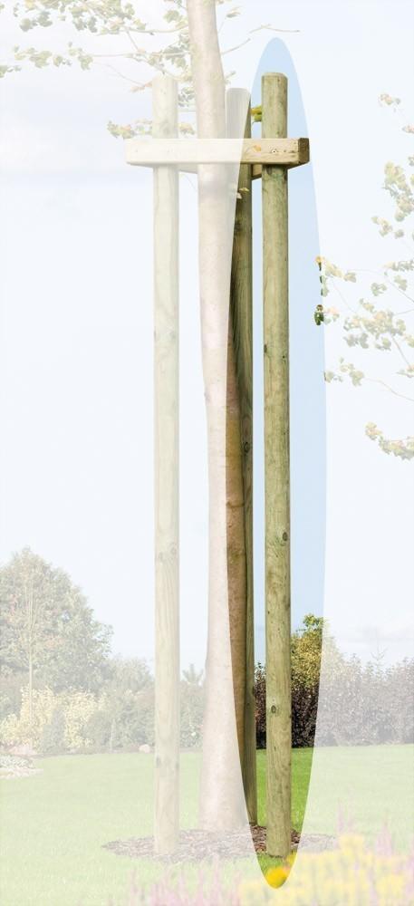 Baumpfahl / Pflanzpfahl / Holzpfahl gespitzt und gefast kdi Ø 6x200cm Bild 1