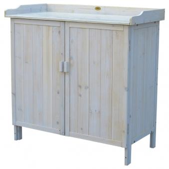 Pflanztisch / Gartentisch Habau mit Unterschrank Lino 98x48x95cm Bild 1