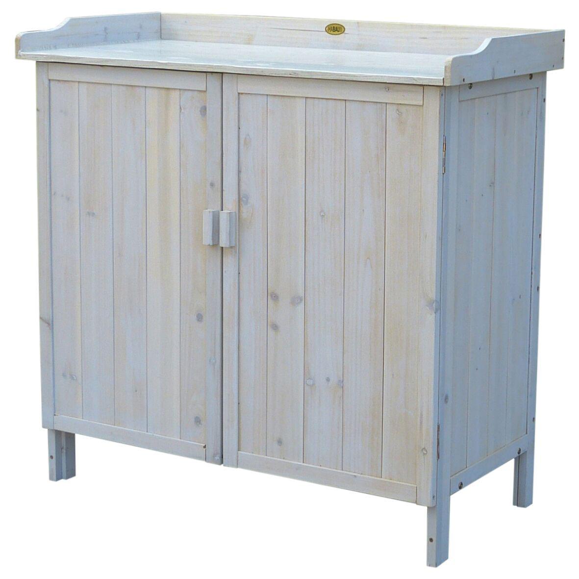 pflanztisch gartentisch mit unterschrank habau lino 98x48x95cm bei. Black Bedroom Furniture Sets. Home Design Ideas