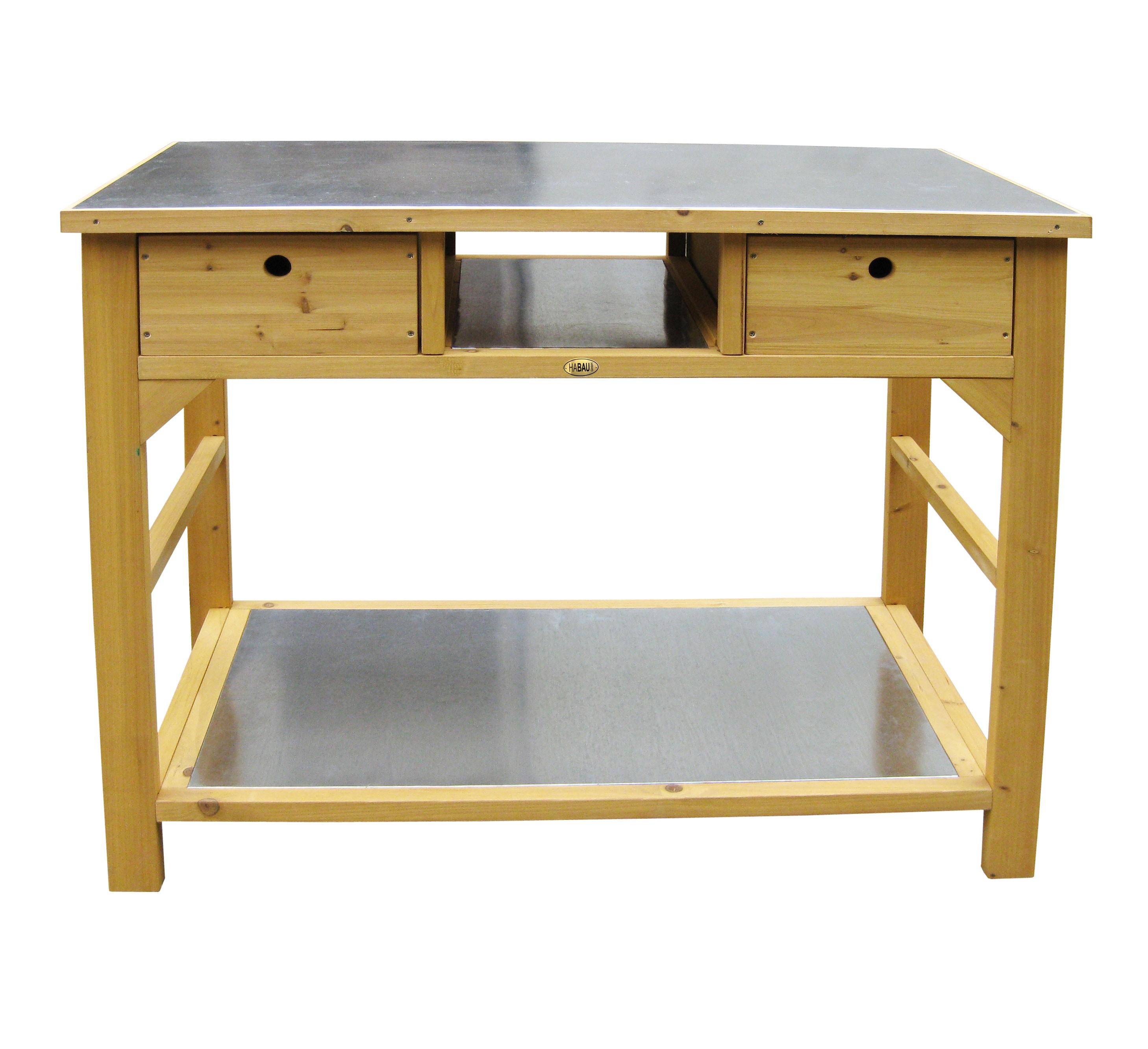 pflanztisch habau schublade verzinkte arbeitspl. Black Bedroom Furniture Sets. Home Design Ideas
