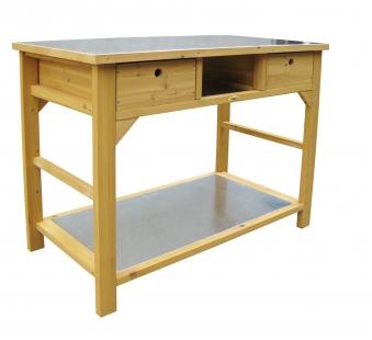 Pflanztisch Habau Schublade verzinkte Arbeitspl. 110x55x99cm Bild 1