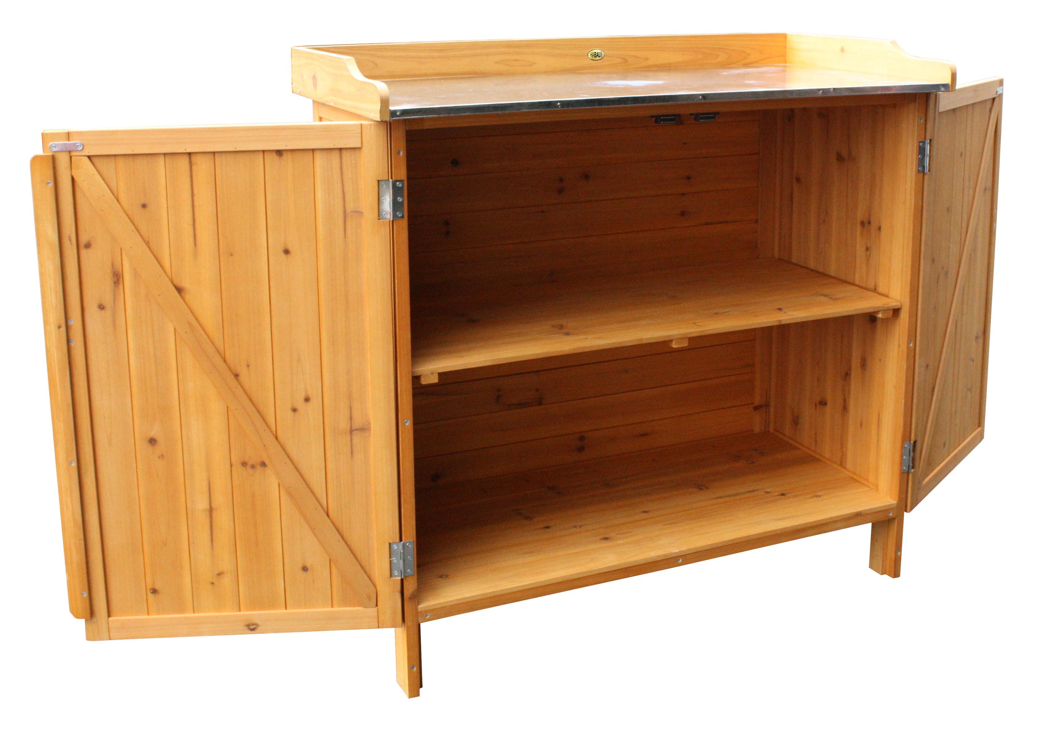 pflanztisch habau mit unterschrank 98x48x95cm bei. Black Bedroom Furniture Sets. Home Design Ideas