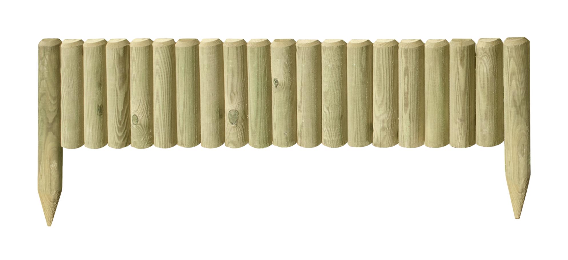Beetabgrenzung Halbpalisaden kdi  5x20/35x100 cm Bild 1