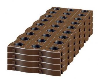 Maxi Beetplatten dunkelbraun 70x24x2,5cm 4 Stück GARANTIA Bild 3