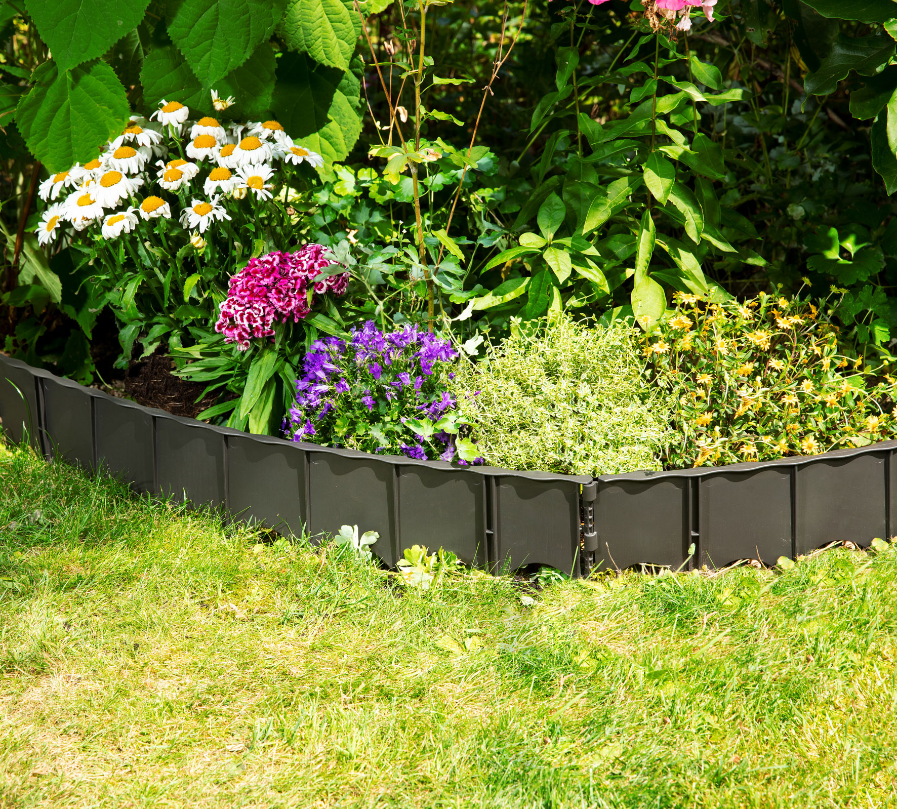 Rasenkante / Beetumrandung Edgar 75x13cm GARANTIA 6 Stück Bild 1