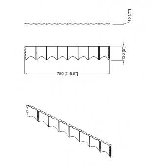 Rasenkante / Beetumrandung Edgar 75x13cm GARANTIA 6 Stück Bild 2