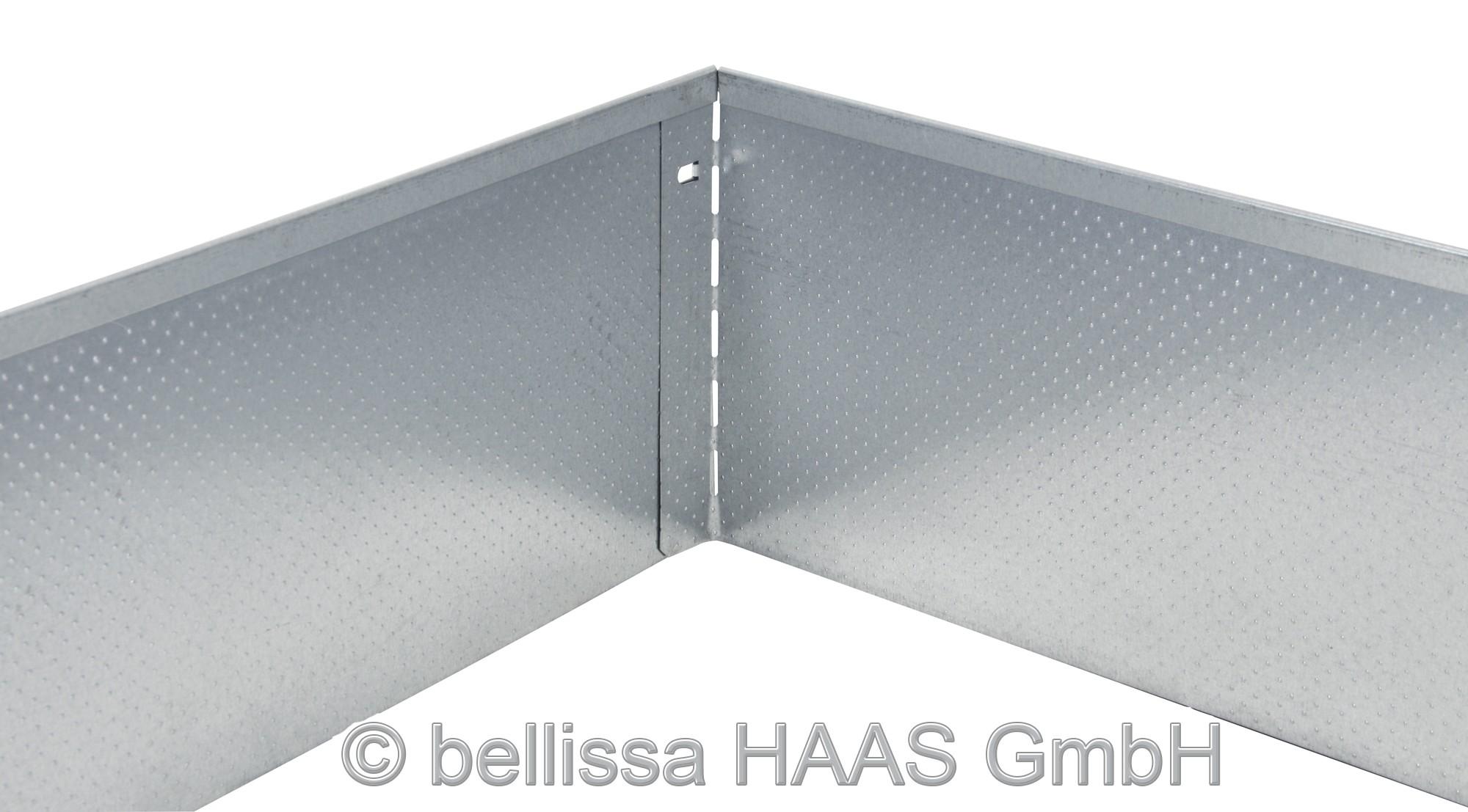 rasenkante metall verzinkt noppenstruktur bellissa. Black Bedroom Furniture Sets. Home Design Ideas