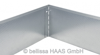 Rasenkante Metall verzinkt Noppenstruktur bellissa L118xH20cm Bild 2