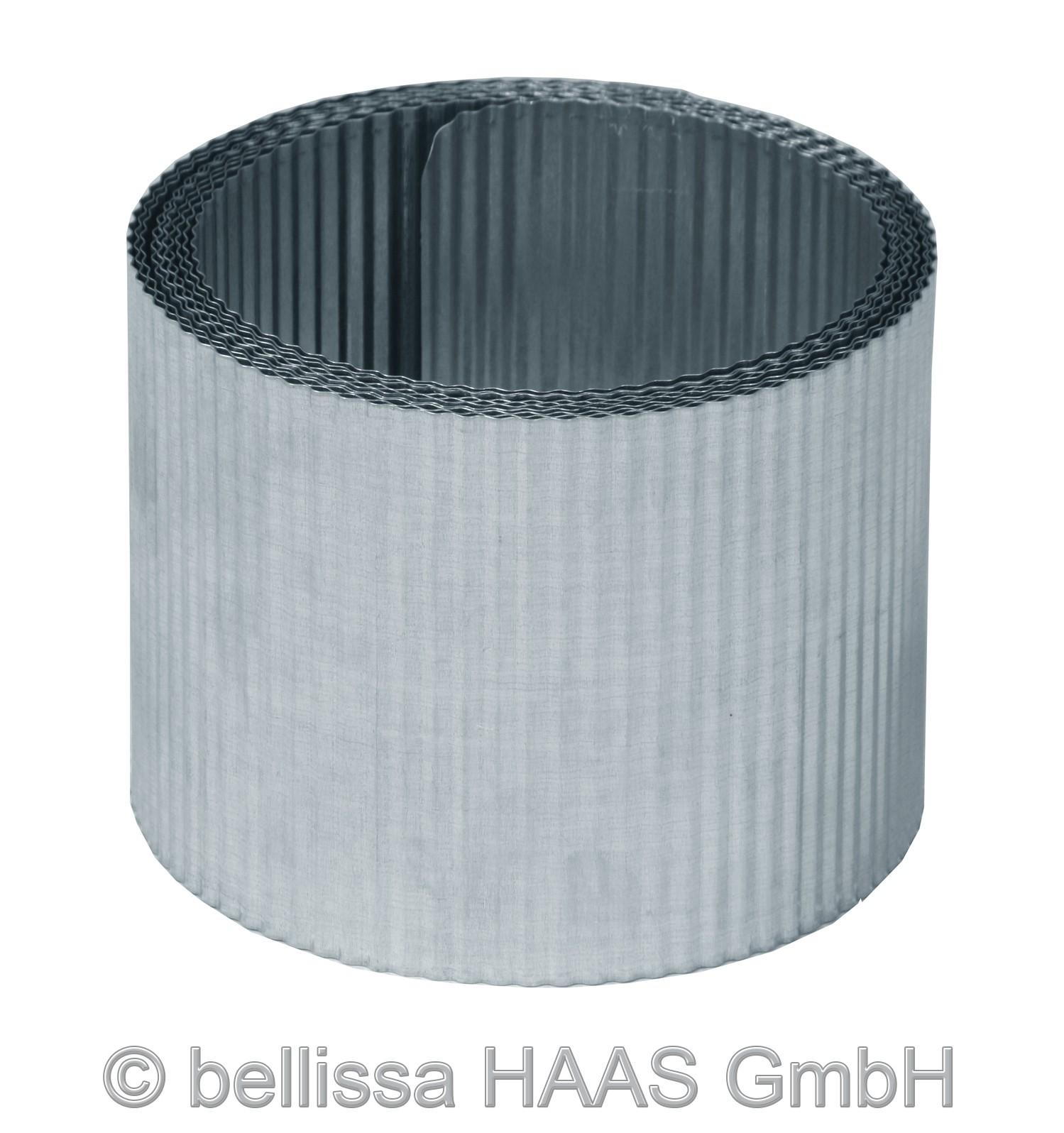 Rasenkante Metall verzinkt kleine Welle bellissa L500xH14cm Bild 1