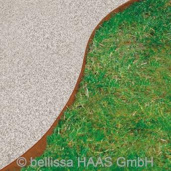 Rasenkante corten Stahl bellissa 118x13cm Bild 2