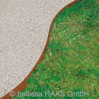 Rasenkante corten Stahl bellissa 118x20cm Bild 2