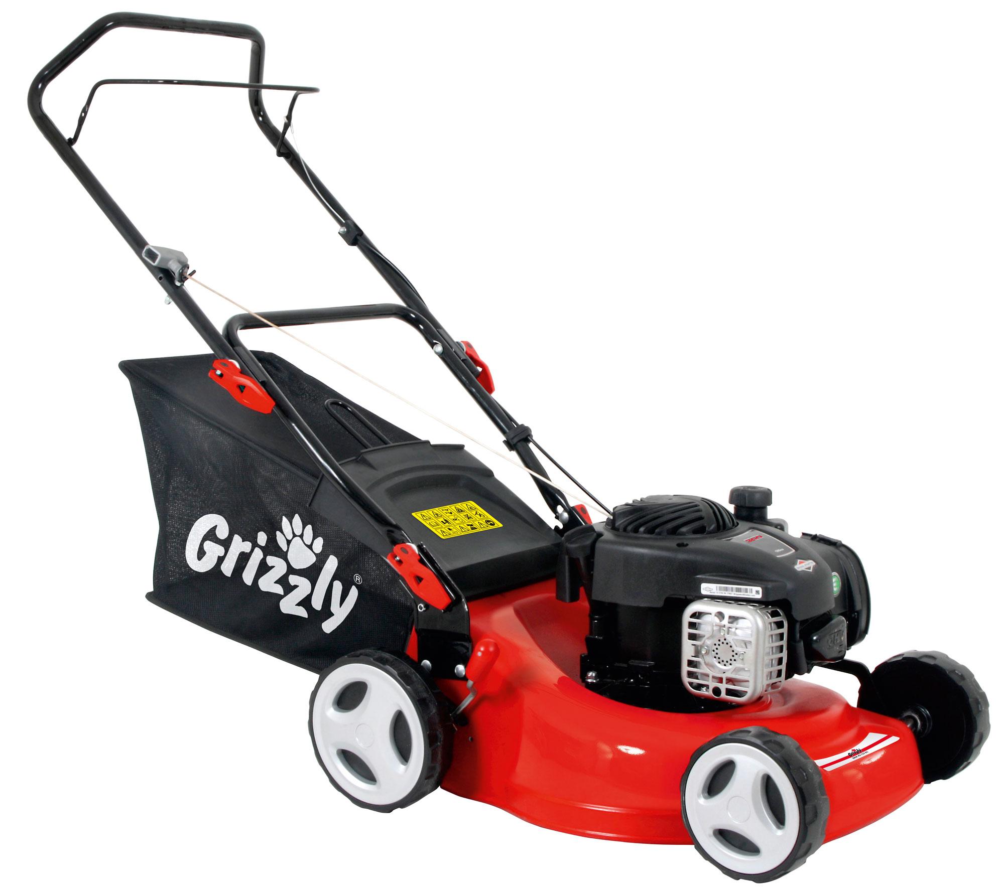 Benzin Rasenmäher Grizzly BRM 24 125 BS mit B&S Motor 1,82kW SB 42cm Bild 1