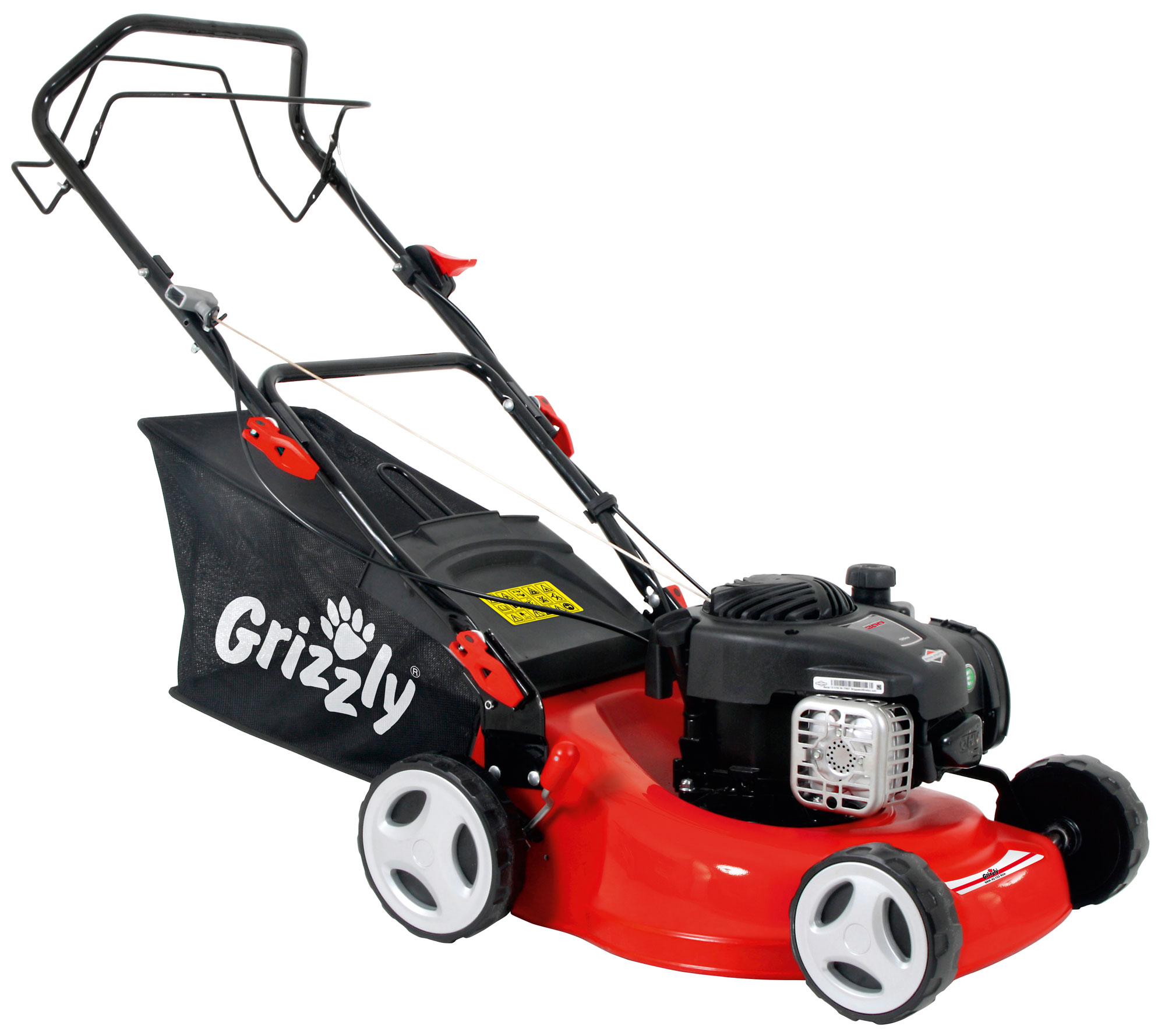 Benzin Rasenmäher Grizzly BRM 42 125 BSA mit B&S Motor 1,82kW SB 42cm Bild 1