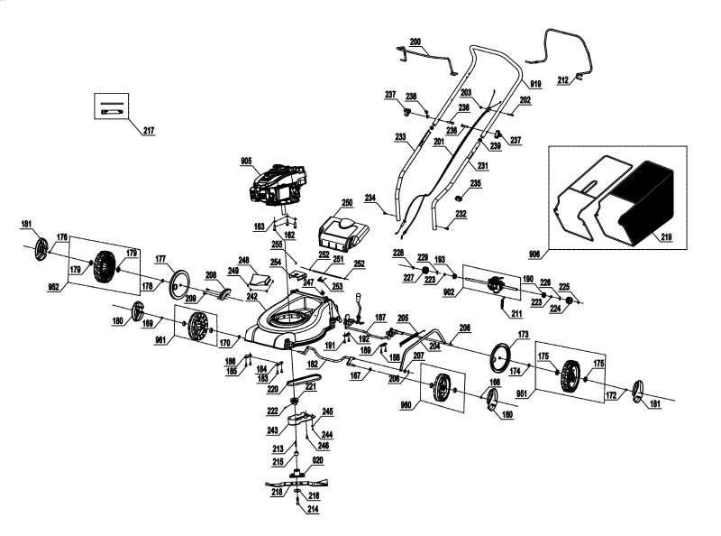 Einhell Benzin Rasenmäher GC-PM 40 S Schnittbreite 40cm Bild 2