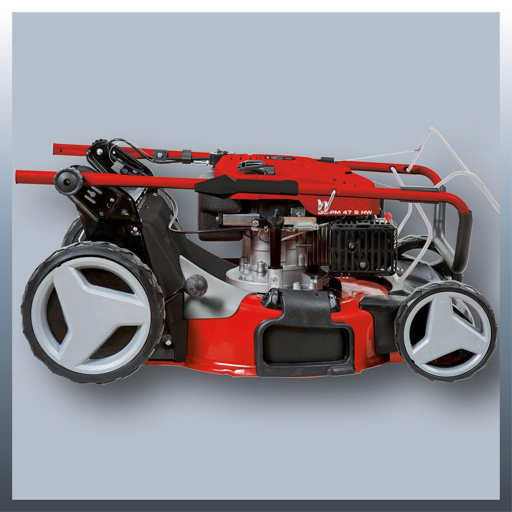 Einhell Benzin Rasenmäher GC-PM 47 S HW Schnittbreite 47cm Bild 2