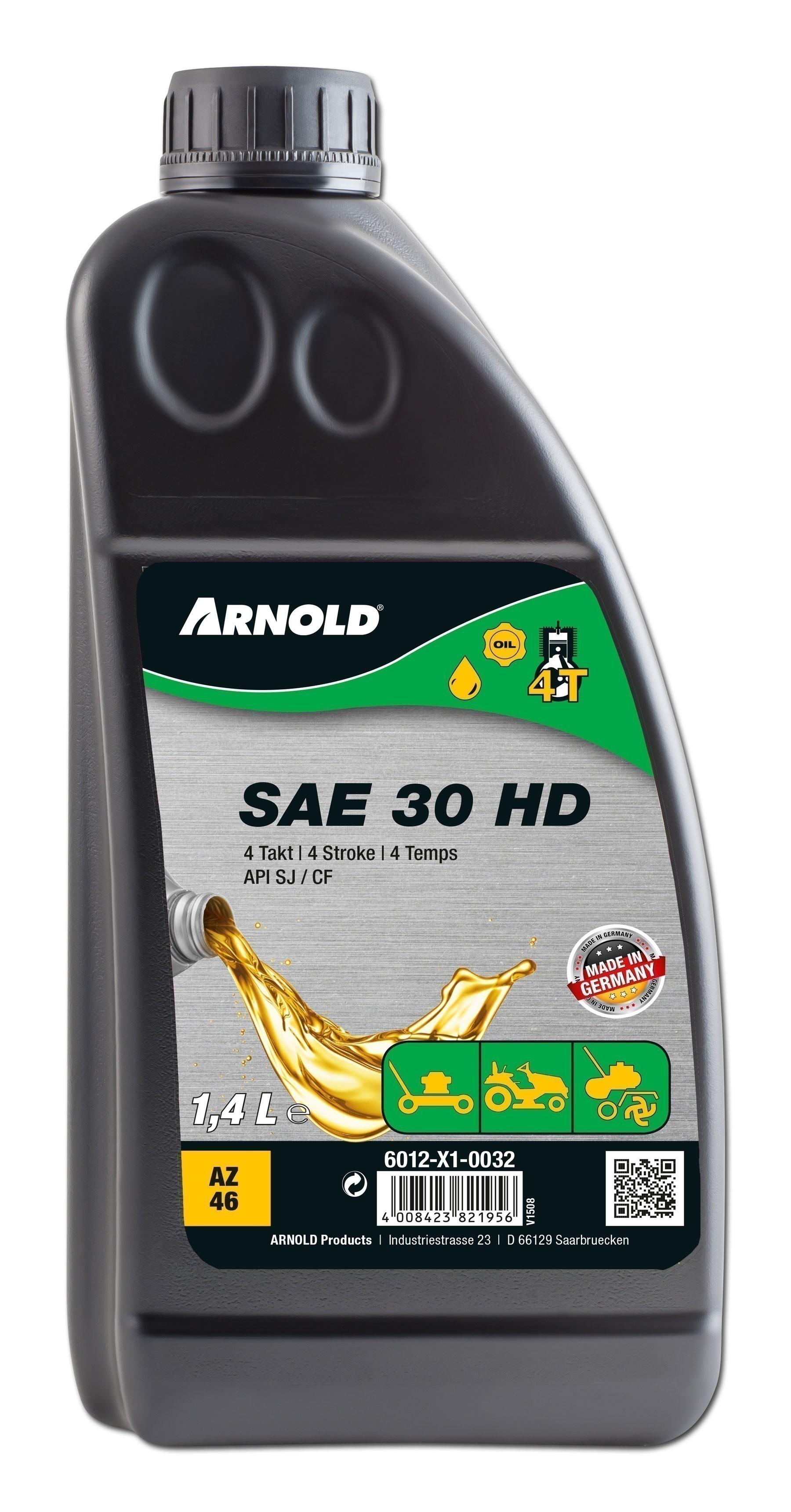 Arnold Motorenöl 4-Takt Sommer-Öl SAE 30HD Rasenmäheröl 1400ml Bild 1