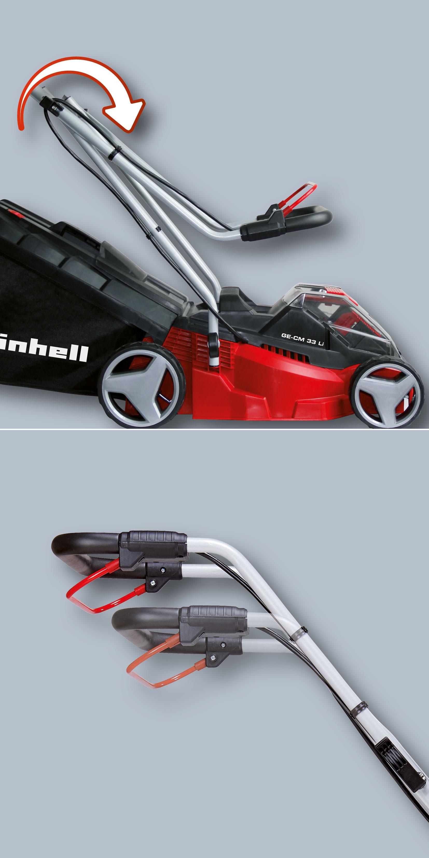 Einhell Akku-Rasenmäher GE-CM 33 Li Kit Power X-Change SB 33cm Bild 2
