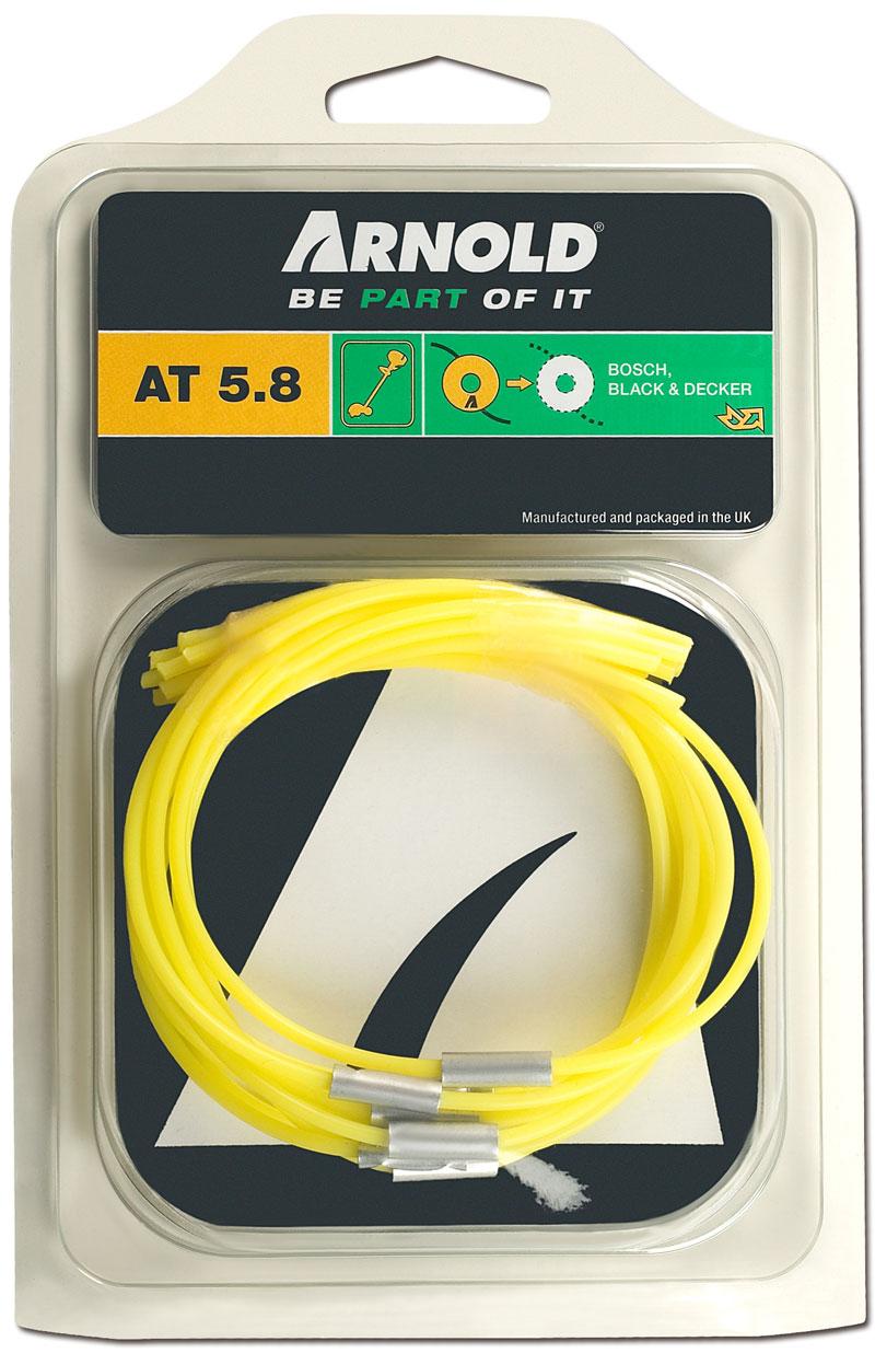 Trimmerfaden Arnold AT5.8 extra stark 10 Stück für Bosch/Black&Decker Bild 1