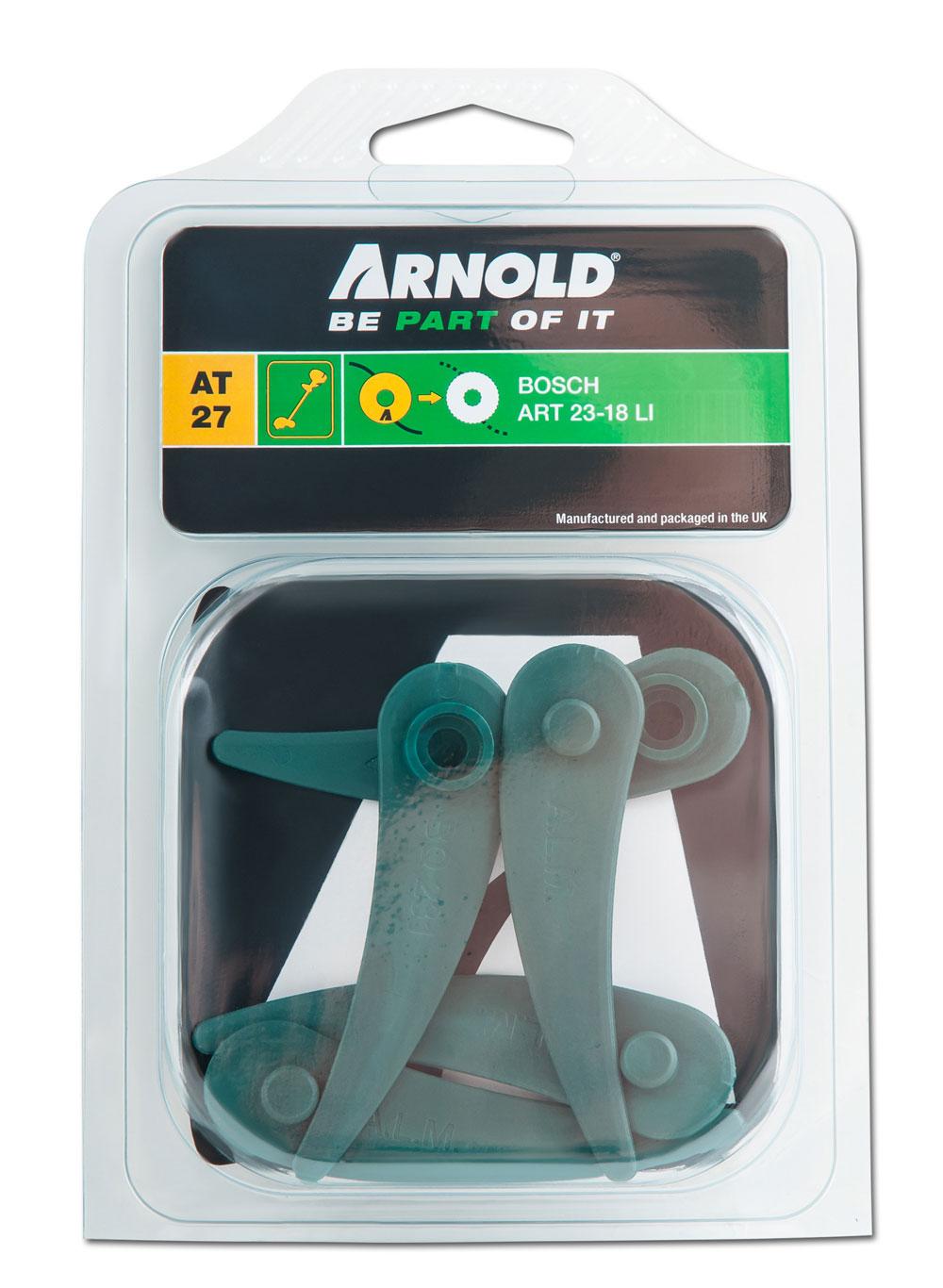 Arnold Ersatzmesser für Bosch Rasentrimmer ART23-18Li 5 Stück Bild 1