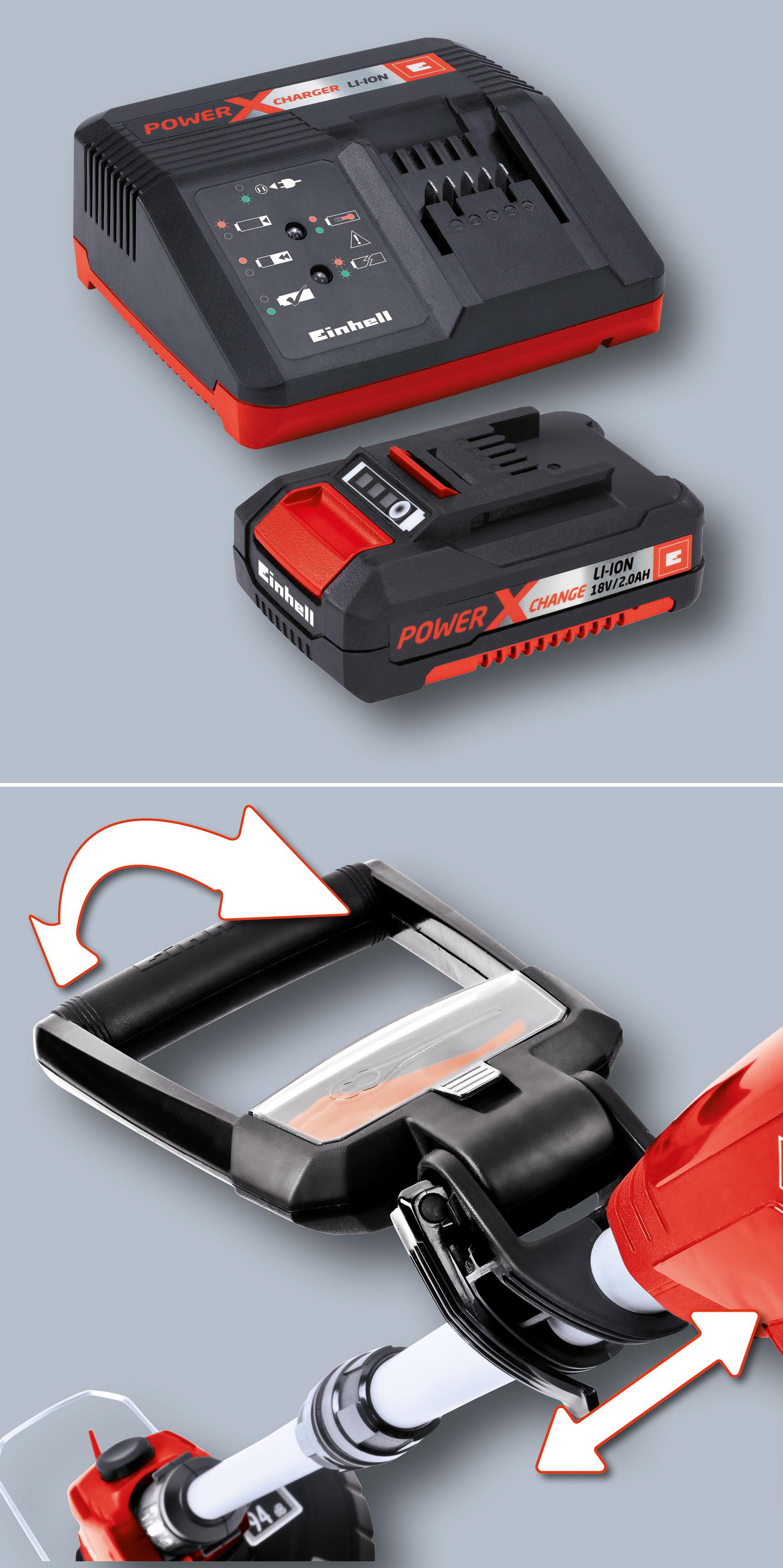 Einhell Akku-Rasentrimmer GE-CT 18 Li Kit Power X-Change SB 24cm Bild 2