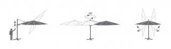 Ampelschirm / Sonnenschirm acamp acamatic 3d 300x300cm bordeaux Bild 3