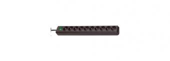Brennenstuhl Steckdosenleiste Eco-Line 10-fach Schalter schwarz Bild 1