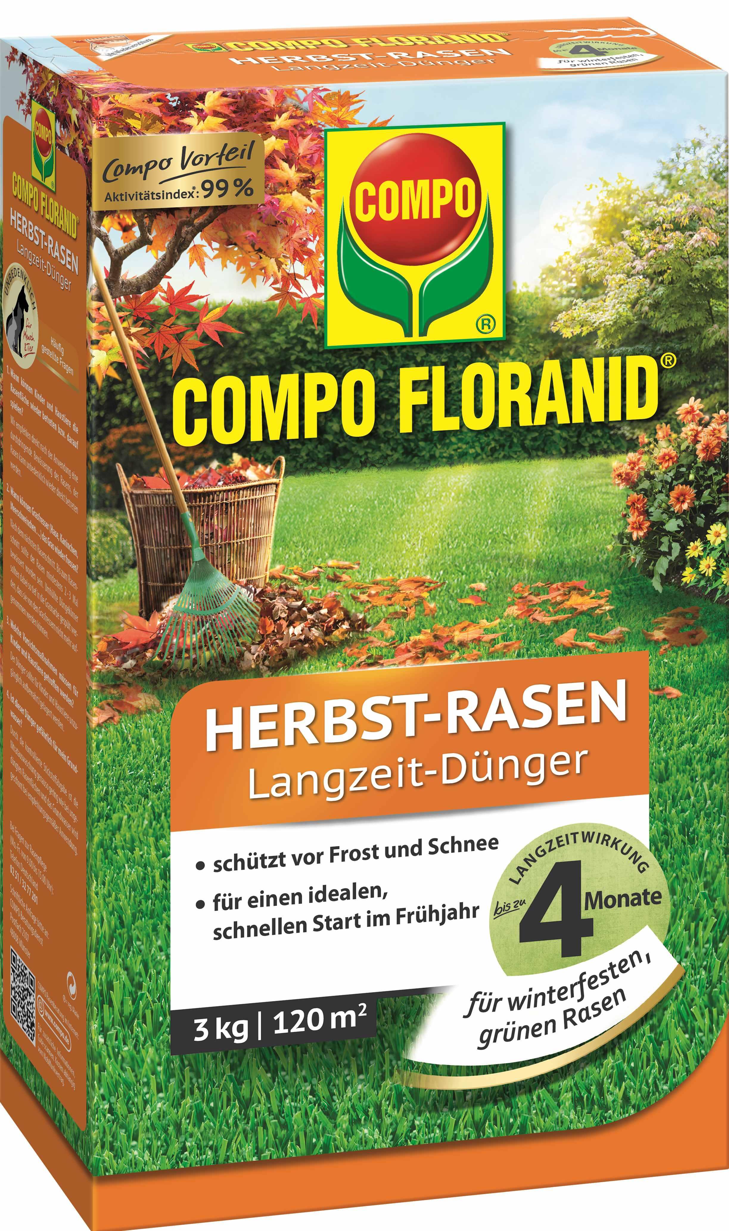 Compo Herbst Rasendünger 3 kg Bild 1