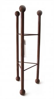 Deko Säule / Ständer dreieckig Metall Naturrost 32x32x105cm Bild 1