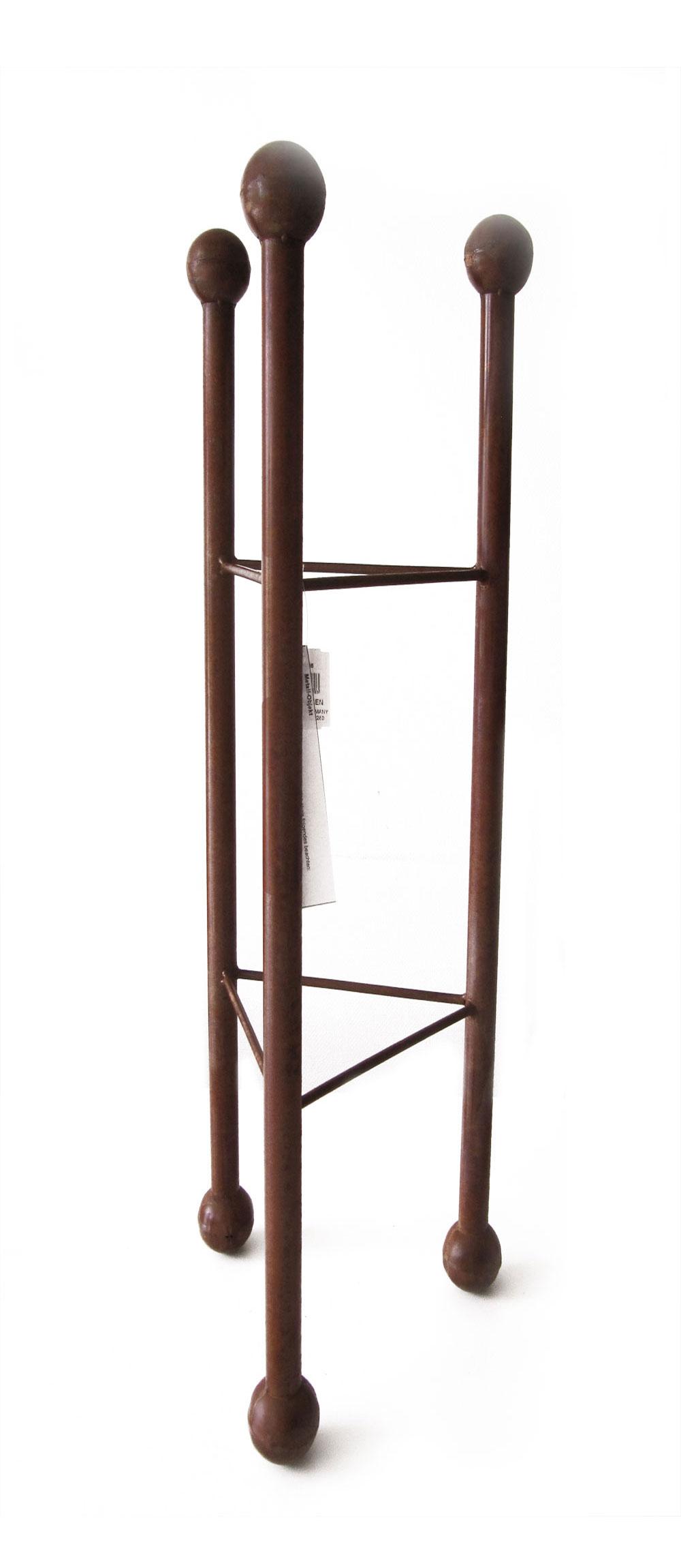 Deko Säule / Ständer dreieckig Metall Naturrost 32x32x135cm Bild 1