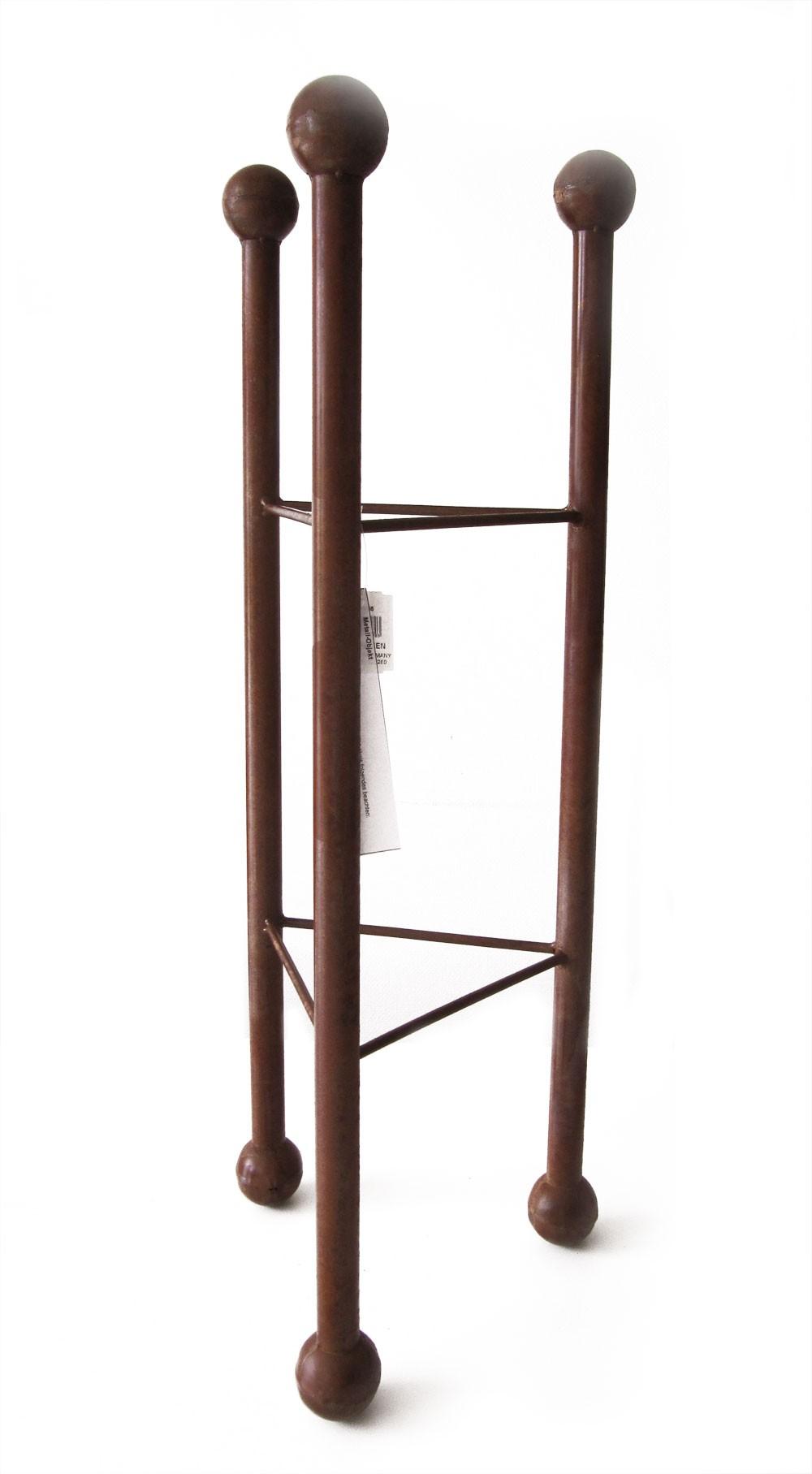 Deko Säule / Ständer dreieckig Metall Naturrost 32x32x85cm Bild 1