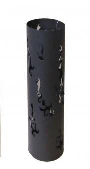Feuersäule rund für draußen dunkelbraun H80cm Bild 1